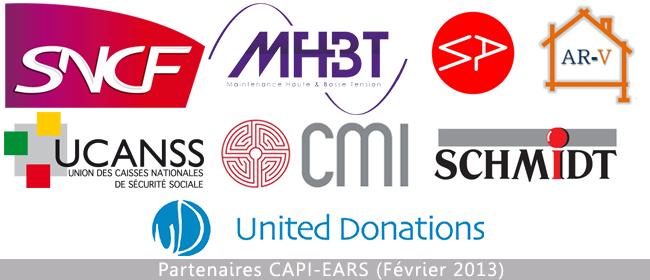 Logo des partenaires de CAPI-EARS - Février 2013