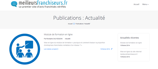 Illustration conception site internet fil actualites