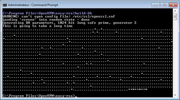 07 - OpenVpn - Certificat RSA - cle encryptation - fichier dh - build-dh-600x303