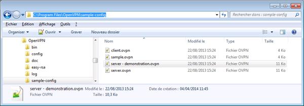 08 - OpenVpn - Fichier de configuration serveur pour Microsoft Windows - 600x211