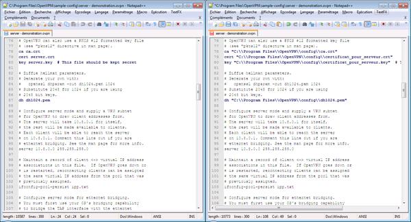 09 - OpenVpn - Configuration du fichier server.ovpn pour Microsoft Windows-600