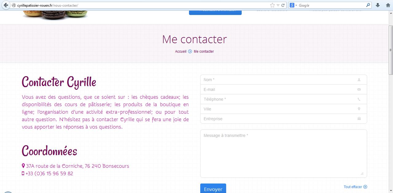 Capi ears formulaire de contact creation site internet - Formulaire de contact ...